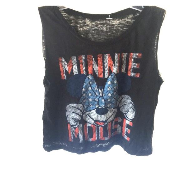 e8638205 Disney Tops | Nwot Minnie Mouse Cropped Tee | Poshmark